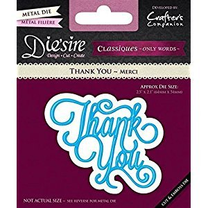 Diesire - Classiques Only Words - Thank You by Crafters Companion