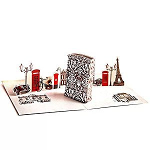 WoodBury 3D Cards Pop Up Birthday Gift Greeting Cards Thank You Card Lighter