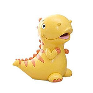 Children Piggy Bank Lovely Cartoon Coin Cans Money Box Gift, Yellow Dinosaur