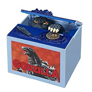 Godzilla Movie Musical Monster Moving Electronic Coin Money Piggy Bank Box Japan Import