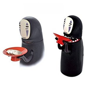 No Face Man piggy bank Chihiro's Spirited Kaonashi style Spirited Away Piggy Saving Bank for Kids Adults Christmas Gift(random shape)