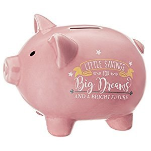 Prinz 6637-6001 Little Savings for Big Dreams Pink Piggy Bank