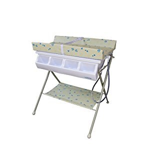 Baby Diego Bathinette Bath and Changer Combo, 1-Pack, Neutral Beige and Blue