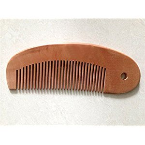 Hand Carved Neem Wood Baby Comb ~ Cradle Cap, stimulating, antiseptic, antiviral and bacterial properties that are beneficial to hair and skin