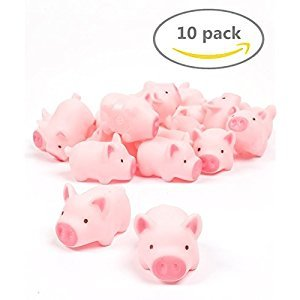 POPLAY Rubber Pig Baby Bath Toy for Kid,10 PCS