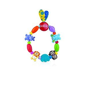 Nuby Safari Loop Teether,Multi Color