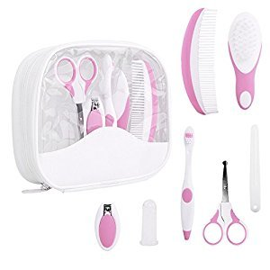 IntiPal Baby Healthcare and Grooming Kit 7 Pieces(Pink)