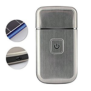 LPY-Men's Mini Rechargeable Cordless USB Electric Foil Shaver Stainless Steel Blade