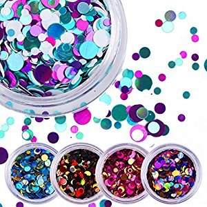 NICOLE DIARY 12 Box Colorful Shiny Round Ultrathin Sequins Nail Art Decoration Manicure DIY Decor