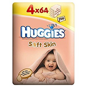 Huggies Soft Skin Baby Wipes with Shea Butter (56 per pack x 4) - Pack of 6