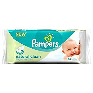 Pampers Natural Clean Fragrance Free Baby Wipes (64) - Pack of 6