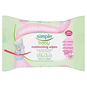 Simple Baby Moisturising Wipes (80) - Pack of 6