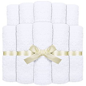 Baby Washcloths (Pack of 10) Premium Natural Bamboo Wash Cloth Towels - Perfect for Sensitive Baby Skin by Utopia Towels