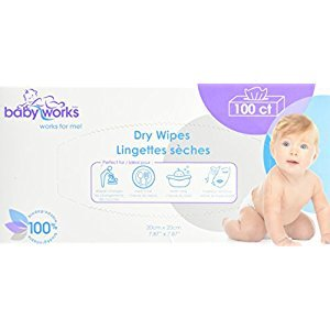 Baby Works Dry Wipes, 100 Count