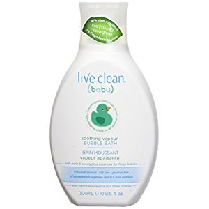 Live Clean 11LCN0172 Soothing Vapour Bubble Bath, Clear, Eucalyptus and Menthol, White, 300ml
