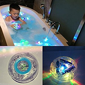 Tnyioo Wonderful Bathroom LED Light Toys Babys Interesting Bathing Toys Water-repellent in bathtub, Children bathe Bathroom Light bath toy lamp