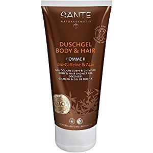 SANTE - Homme II 2in1 Organic Caffeine & Acai Body & Hair Shower Gel - VEGAN Gluten Free -