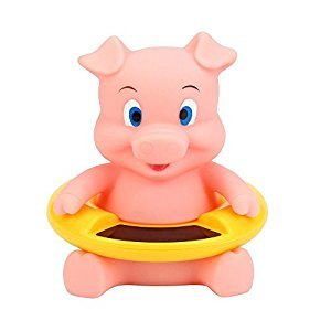 GuDoQi Water Thermometer Cute Animal Baby Bath Tub Thermometer Floating Toy Bath Thermometer For Baby Pink