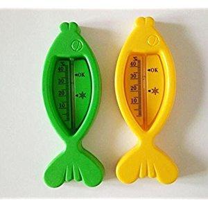 KELER Fish Shape Thermometer Baby Bath Temperature (Random Color)