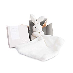 DOUDOU ET COMPAGNIE - White Small Soft Bunny with Blankie