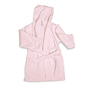 ExceptionalSheets Little Girls Terry Cloth Hooded Bath Robe, Large, Pink