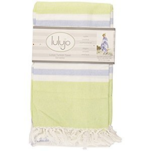Lulujo Turkish Towel, Green and Aqua Blue, One Size