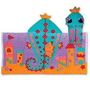 Stephen Joseph Hooded Towel, Seahorse