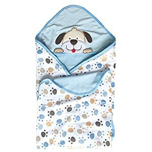 Vine Newborn Infant Swaddle Wrap Sleeping Bag Anti-kick Blanket Swaddling Bath Towel 0-12 Months With Cute Embroidery Dog