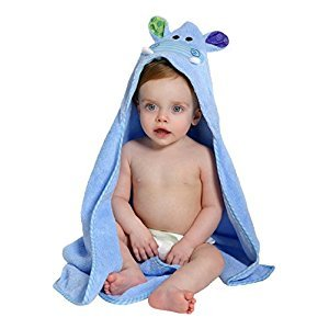 Zoocchini - Baby Towel - Henry the Hippo