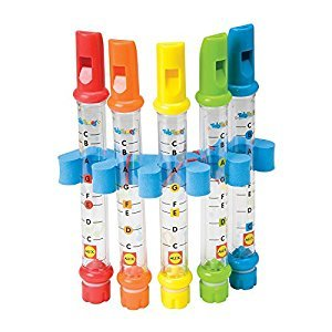 MS Pack of 5, Bath Water Flutes (Toy for Kids To Have Bath!) With Music Sheets