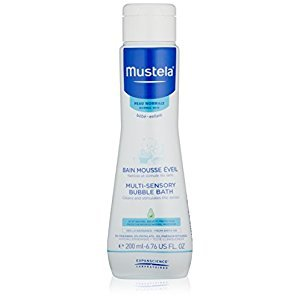 Mustela Multi-Sensory Bubble Bath, Baby Bubble Bath with Natural Avocado Perseose, Tear-Free, 6.7 Fl. Oz