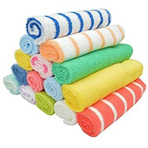 20x20cm 8 Pcs / Set Towel Baby Wash Cloth Infant Towel Baby Feeding Towel Handkerchief-