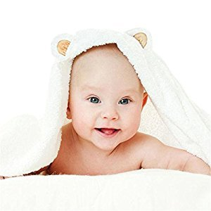 Baby Bath Towel Hooded Bamboo Quick-Dry Soft Cute Fit for Sensitive Skin Organic, Sterilize, No-Odor Toddler Infant Washcloth Towels