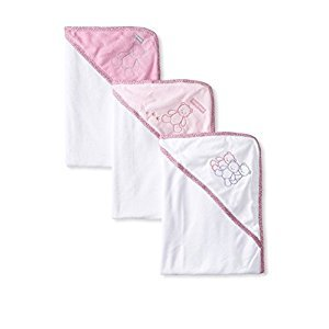 Teddy Bear Hooded Bath Towel Set, 3 Pack, Girl, Frenchie Mini Couture
