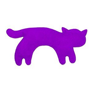 Leschi Warming pillow | 36478 | Minina the cat | standing | small (for babys) Color: Purple / Midnight