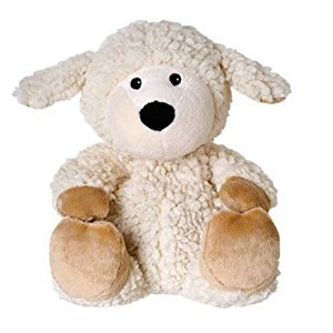 Warmies Beddy Bears Sheep Locke with Sherpa Herbal Scent Beige