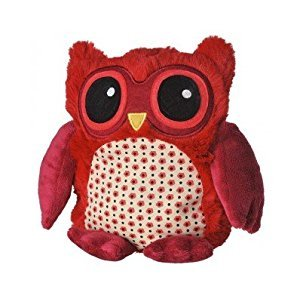 Warmies Pop Owl with Lavender Scent and Removable Filling Red