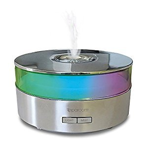 SpaRoom AromaMist Ultrasonic Essential Oil Diffuser and Aromatherapy Mister, Chrome