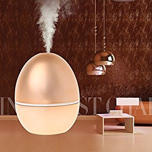 SYlive Ultrasonic Mini Egg USB Humidifier Diffuser Office Home Air Purifier Mist Maker - Rose Gold