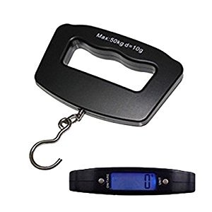 50kgs Portable LCD Digital Scale Electronic Luggage Balance Scale Weight TBS50