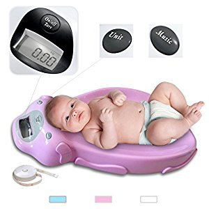 Babyfiled - Pink Digital Electronic Baby Scale Weighing Scale with Music including batteries Max. 20KG