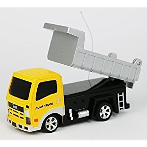 Tech Toyz Rechargeable Wireless Remote Control Dump Truck, 1:64 Scale