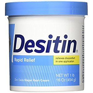 Desitin Rapid Relief Creamy Diaper Rash Cream, 16 Oz (Pack of 3)