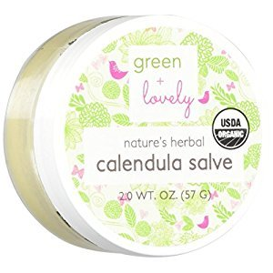 Green + Lovely nature's herbal (organic) calendula salve cream, unscented, 2 Ounce