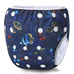 Storeofbaby Baby Reusable Cloth Diapers Washable Swimming Nappies Pants 0-3 Years
