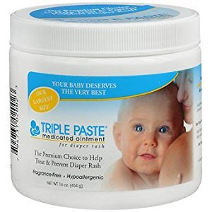 Triple Paste Medicated Ointment for Diaper Rash - 16 oz, Pack of 2