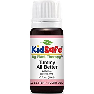 Plant Therapy KidSafe Tummy All Better Synergy Essential Oil 10 mL (1/3 oz) 100% Pure, Undiluted, Therapeutic Grade