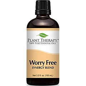 Worry Free Synergy Essential Oil Blend. 100 ml (3.3 oz) 100% Pure, Undiluted, Therapeutic Grade. ( Blend of:Lavender, Marjoram, Ylang Ylang, Sandalwood, Vanilla and Roman Chamomile)