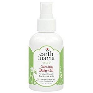 Angel Baby Oil, Fragrance-free with Organic Calendula (4 Fl. Oz.)