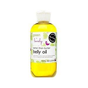 Green + Lovely better than butter belly oil, tangerine orange, 9 Fluid Ounce